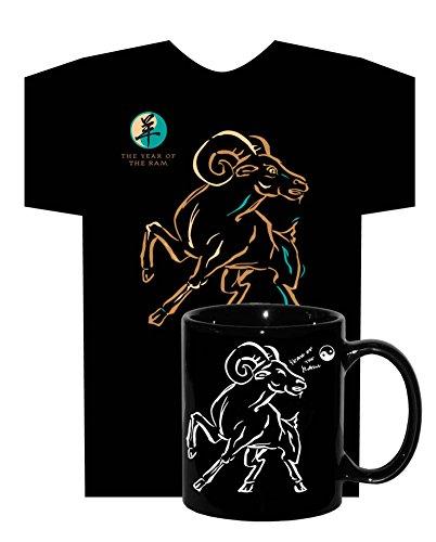 Asian Oriental Chinese Zodiac Neon-Nrg T-Shirt & Coffee Tea Mug Year Of The Ram