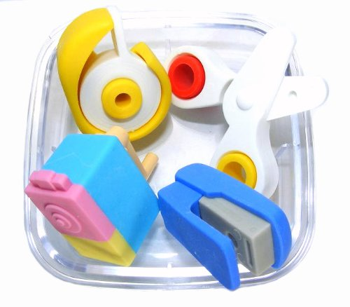 Iwako Japanese Erasers In A Mini Bento Box - Stationery Assortment