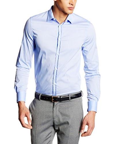 Trussardi Jeans Camisa Hombre Azul Celeste