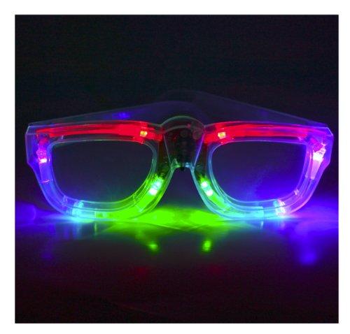Atomic Raver Led Light Show Sunglasses - Multi-Color