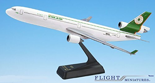 EVA Air Taiwanese Airline MD-11 Airplane Miniature Model Plastic Snap-Fit 1:200 Part# AMD-01100H-003 (Eva Air Model compare prices)