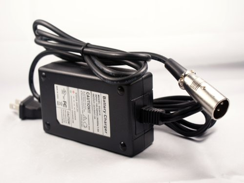 Betterstuff Lowerprice Products - 24V 2A XLR Scooter Battery Charger For eZip 40 400 500 750 900 Mountain Trailz - Trailz Men - Trailz Women - Output DC 24V 2A