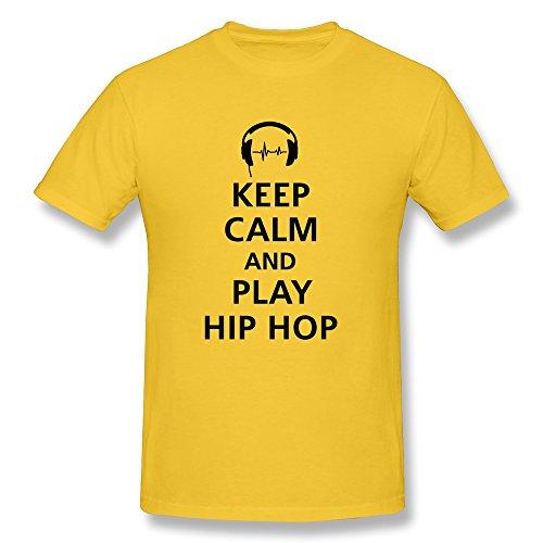 Men'S Personalized Custom Tees Fashion Keep Calm Hip Hop M Yellow