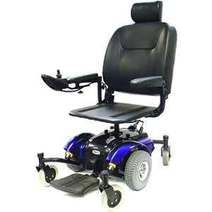 Drive Medical Intrepid Mid-Wheel Power Wheelchair Pan Seat, Blue, 20 Inch
