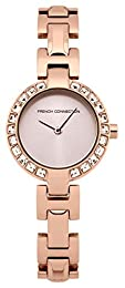 French Connection Women's Quartz Watch with Rose Gold Dial Analogue Display and Rose Gold Stainless Steel Bracelet FC1157RGM