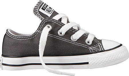 Converse Unisex Baby Infant All Star Ox - Charcoal - 3 front-1066473