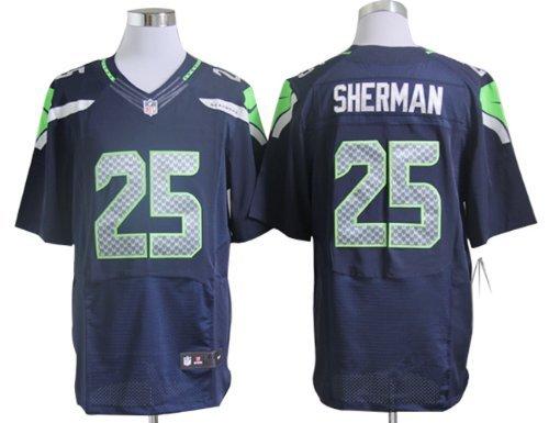 detailed look 0e675 fd322 Amazon.com : Seattle Seahawks Richard Sherman Blue Jersey ...