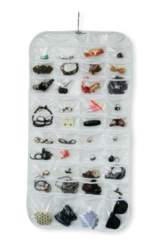 B&E Home Essential - 80-Pocket Hanging Jewelry Organizer
