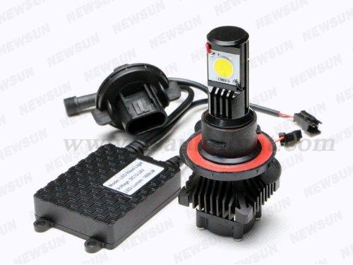 Newsun Cree Kit 9008/H13 Led Headlight Bulb 25W Head Light Dual High Low Beam 5000K Headlamp Kit H13 Base