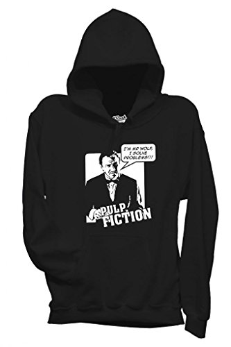 FELPA MR WOLF I SOLVE PROBLEMS PULP FICTION-FILM by MUSH Dress Your Style - Uomo-XL-NERA