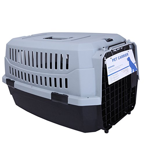 Mpets Portable & Durable Airline Approved Dog Carrier/Crate for Dogs/Cats, Black, L, 26.77″x19.29″x14.57″
