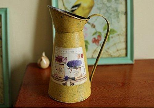 VANCORE(TM) Nostalgia Style Shabby Chic Larger Metal Pitcher Vase for Flowers Decoration 1