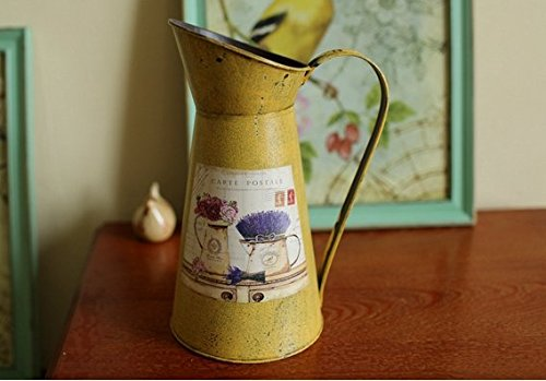 VANCORE(TM) Nostalgia Style Shabby Chic Larger Metal Pitcher Vase for Flowers Decoration 1