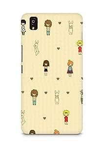 Amez designer printed 3d premium high quality back case cover for OnePlus X (Cute Cartoon 2)