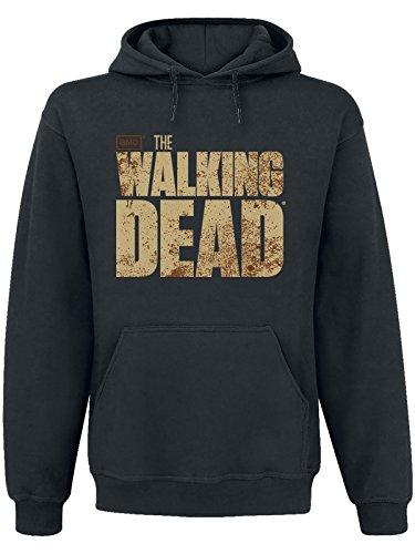 The Walking Dead - felpa con cappuccio - hoodie - logo sul davanti e stampa sul retro - nero - S