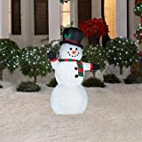 Home Accents Holiday 4 Ft. LED Lighted Snowman Airblown Inflatable