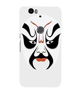 EPICCASE Beijing Opera White Mask Mobile Back Case Cover For Huawei Nexus 6P (Designer Case)