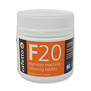 Cafetto F20 Cleaning Tablets - 2g/.07oz - 100 Tablet Jar from Cafetto