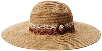 San Diego Hat Women's Hemp Floppy, Brown, One Size