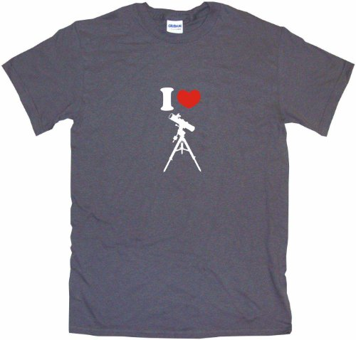 I Heart Love Telescope Logo Men'S Tee Shirt Medium-Charcoal