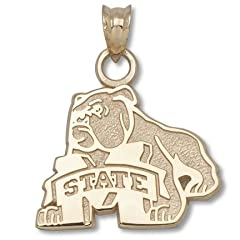 Mississippi State University Bulldog M State - Sterling Silver by Logo Art