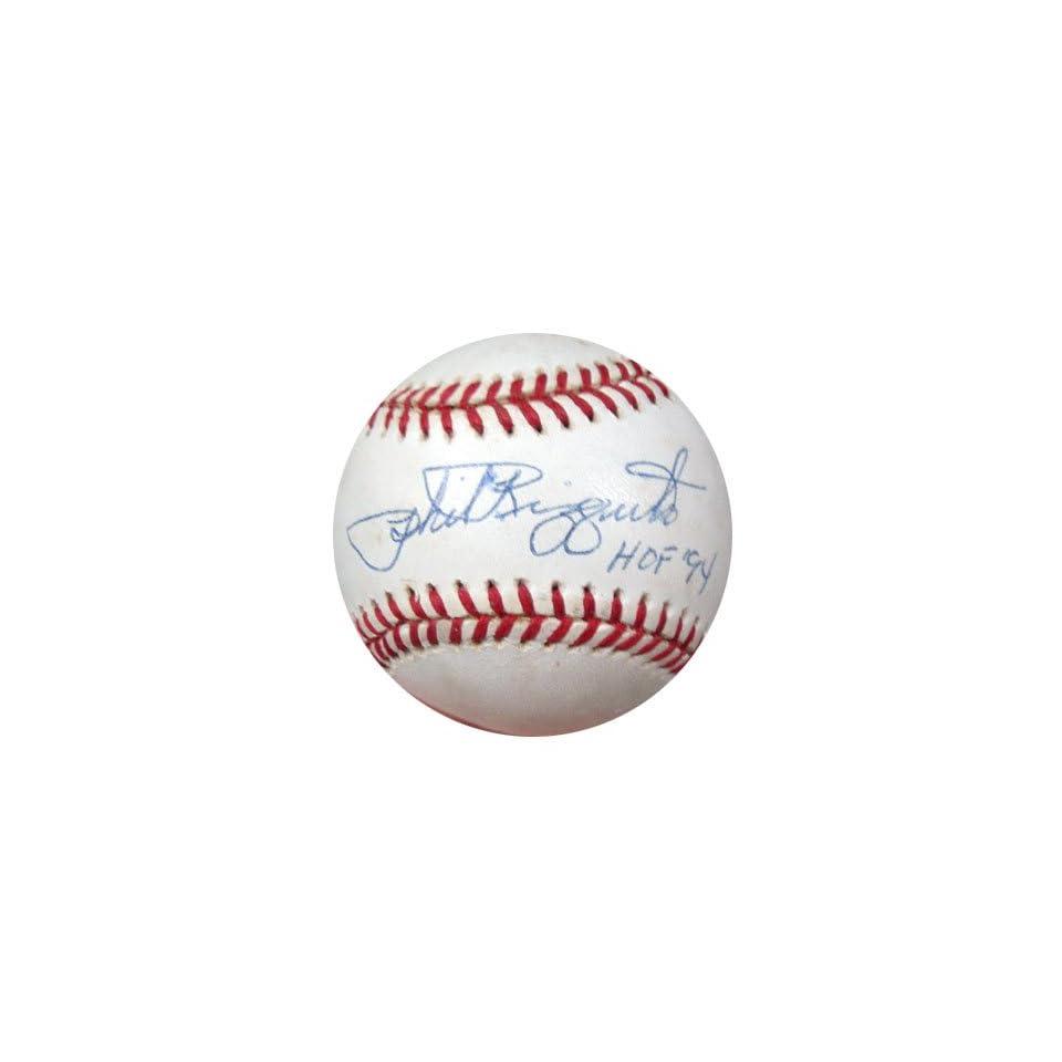 Signed Phil Rizzuto Ball OL HOF 94 PSA DNA #L10776 on PopScreen