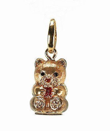 JUDITH LEIBER ADORABLE TEDDY BEAR CHARM by Unknown