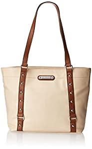 Franco Sarto Nicole Travel Tote,Bone/Whisky,One Size