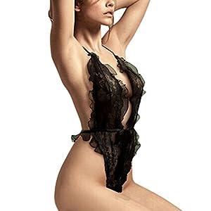 Women's Lingerie Lace See-through Teddy Sleepwear Underwear Babydoll Dress