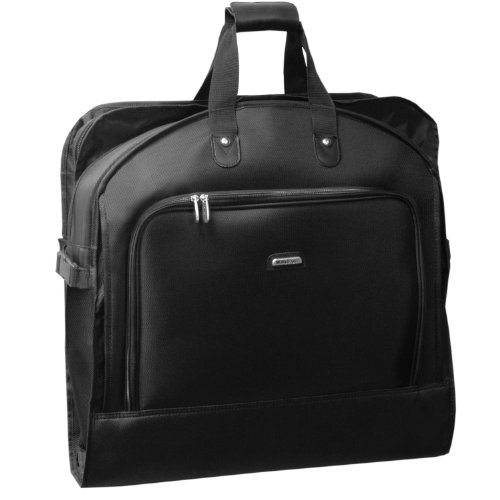 wallybags-45-inch-bi-fold-garment-bag-with-shoulder-strap-black-one-size