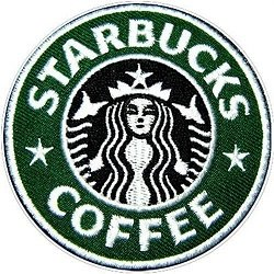Starbucks Embroidered sewing machine Iron on Patch (Starbucks Coffee Costume)
