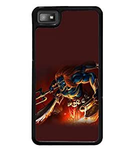 printtech Hindu Demon Angry Back Case Cover for BlackBerry Z10