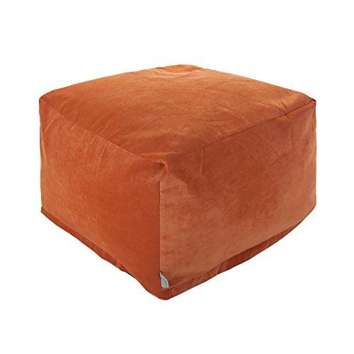 Majestic Home Goods Villa Orange Large Ottoman Furniture Outdoor Furniture Outdoor Ottomans