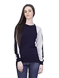 Women's Round Neck Intarsia Cotton Sweater