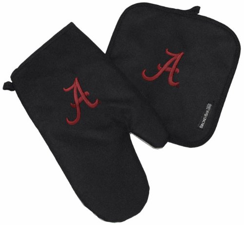 University Of Alabama Mitt Potholder Set Alabama Crimson Tide Kitchen Tailgating Or Barbecue Pot Holder College Ncaa Licensed