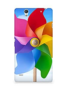 Amez designer printed 3d premium high quality back case cover for Sony Xperia C4 (Great color windmill)