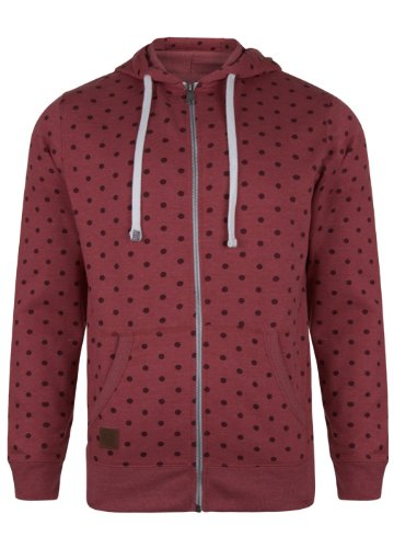 Mens Tokyo Tigers Full Zip Hoodie With All Over Print Detail. Style Name - Konbu. In Claret Marl Size - Small