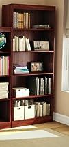 South Shore Axess Collection 5-Shelf Bookcase Royal Cherry