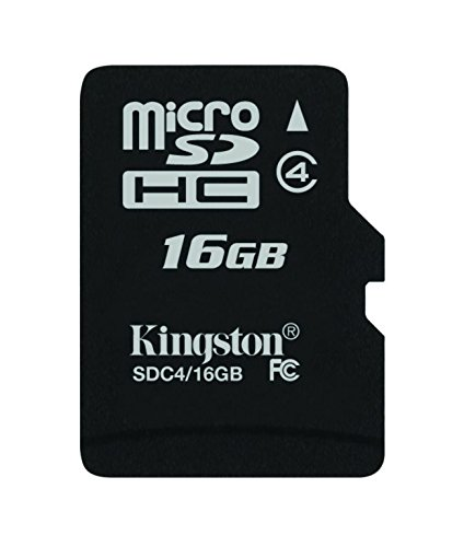 Kingston SDC4/16GB Memoria MicroSDHC senza Adattatore SD, 16 GB, Class 4