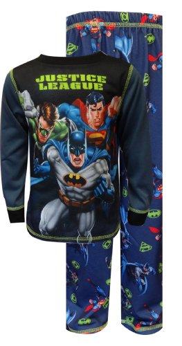Komar Kids Big Boys' Justice League 2 Piece Pajama Set, Dark Gray, Large