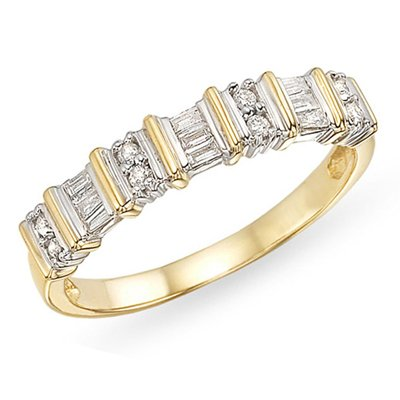 10k Yellow Gold Diamond Eternity Ring, (.16 cttw G-H Color, I2-I3 Clarity)
