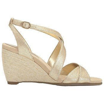 Bronze Wedge Sandals front-1022380