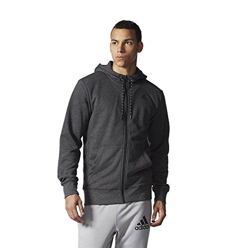 Adidas Women's Essentials-Felpa con cappuccio e Zip completa francese