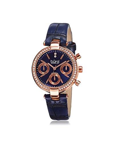 Burgi Women's BUR129BU Blue Base Metal Watch