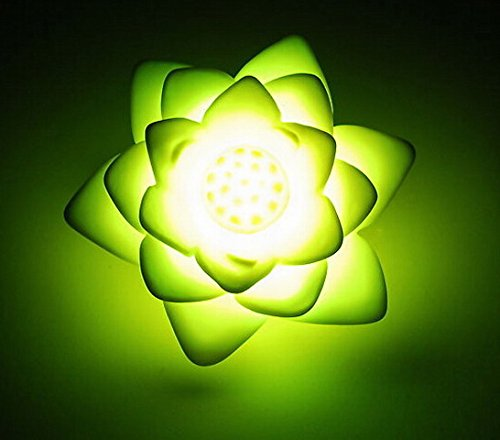 Domire Pack Of 3 Color Changing Desk Bedroom Party Wedding Lamp Led Night Light,Lotus