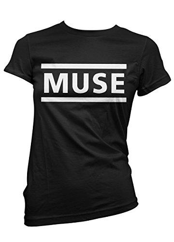 T-shirt Donna Muse - maglietta 100% cotone LaMAGLIERIA,XL, Nero