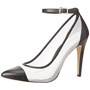 BCBGeneration Women's Cynthia Dress Pump,Black/White,7.5 M US