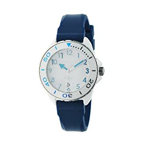 Android Women's AD512AWBU Exotic White Ceramic Blue Rubber Strap Watch