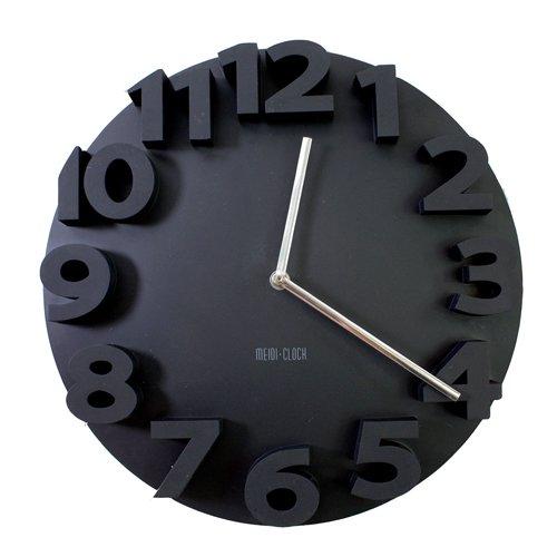 "Lightinthebox Modern 14""H 3D Number Mute Analog Indoor Wall Clock - Color Black front-814112"