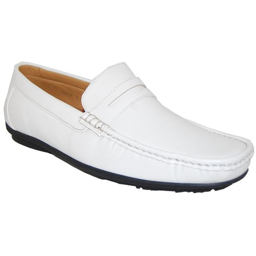 Летние мужские туфли белого цвета из искусственной…